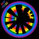 NYC Gay Pride  Circular Cityscape - New York City Circular Skyline in Rainbow Pride Colors by Warren Paul Harris