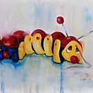 Caterpillar pull along - retro by Deborah Cauchi