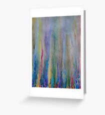 Water venting through Volcanic Minerals Greeting Card