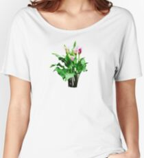 Pink and White Calla Lilies Women's Relaxed Fit T-Shirt