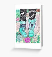 Punk Boots Greeting Card