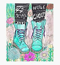 Punk Boots Photographic Print