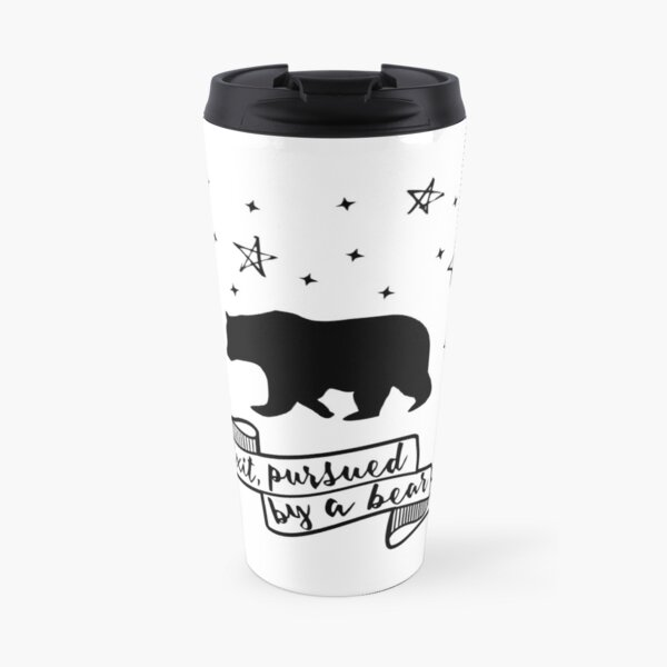 'Exit, pursued by a bear' - A Winter's Tale Shakespeare quote Travel Mug