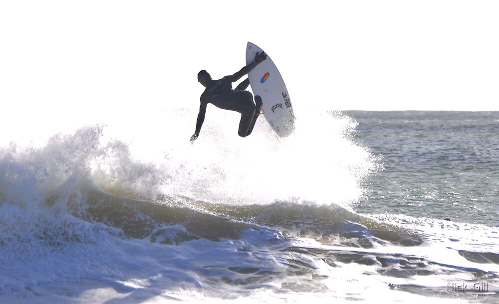 Winter Surfing In Pembrokeshire, West Wales by Nick  Gill