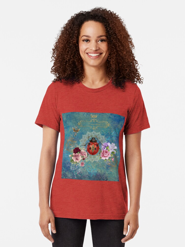 Alternate view of Ladybug Beautiful World Tri-blend T-Shirt