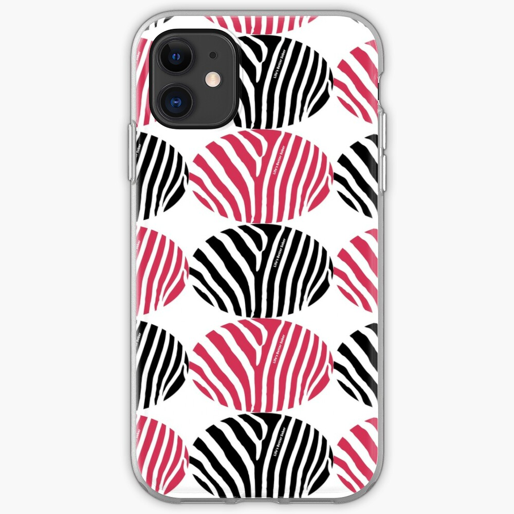 ANSY: Life's Better Sober (in red and black) iPhone Case & Cover