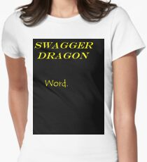 Swagger Dragon Womens Fitted T-Shirt