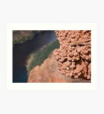 Hanging Out Over Horseshoe Bend Art Print