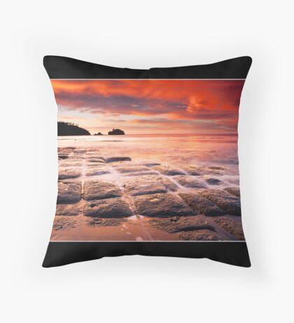 Tessellated Fire Throw Pillow