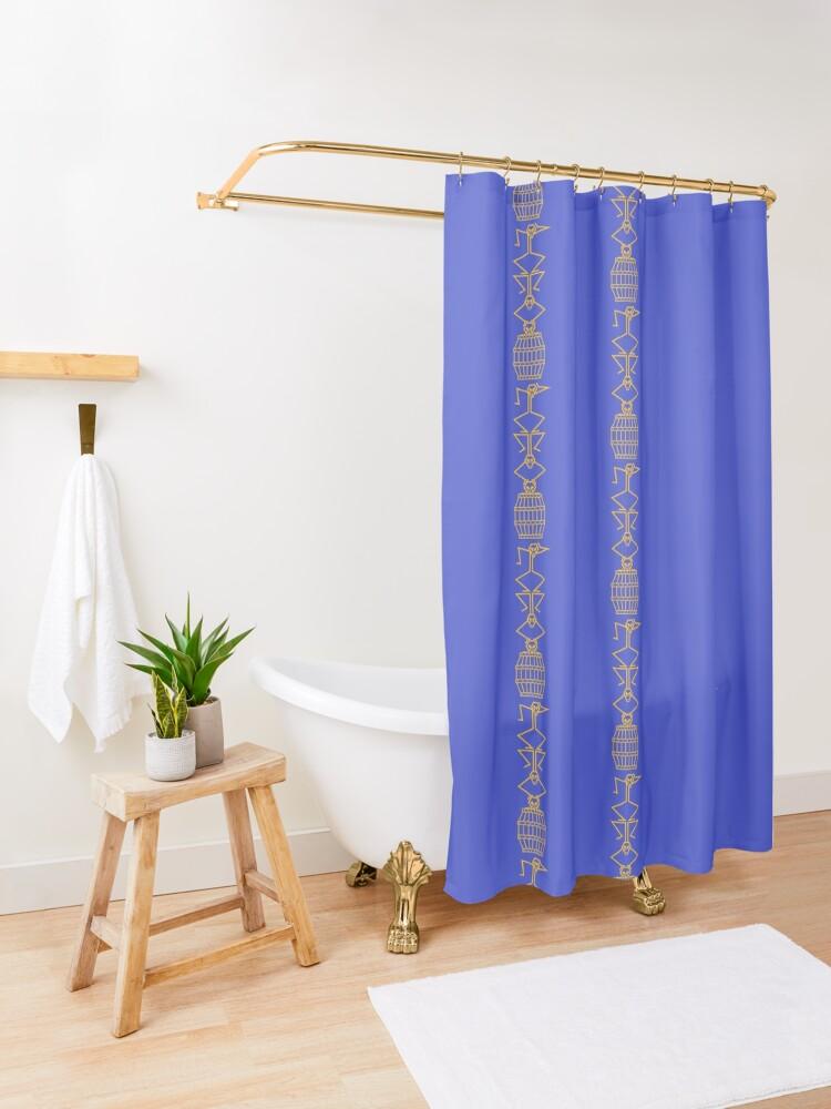 Alternate view of Barrel of Monkeys Shower Curtain