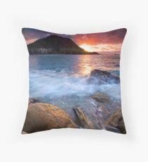 Mauao Orange & Purple Set Throw Pillow