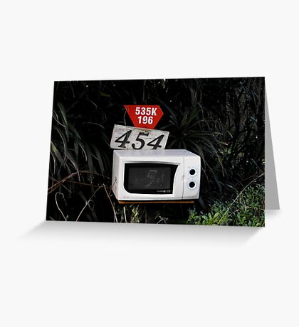 Microwave Mailbox Greeting Card