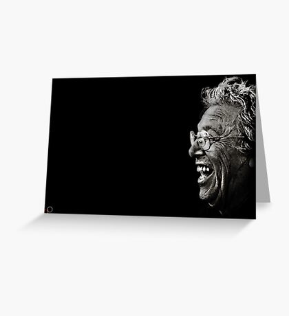 Faces of Venice - The Comedic Philosopher Greeting Card