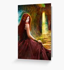 When Inspiration Knocks - card Greeting Card