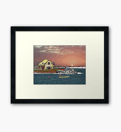 Florida, Home Of The World Most Beautiful Beaches Framed Print