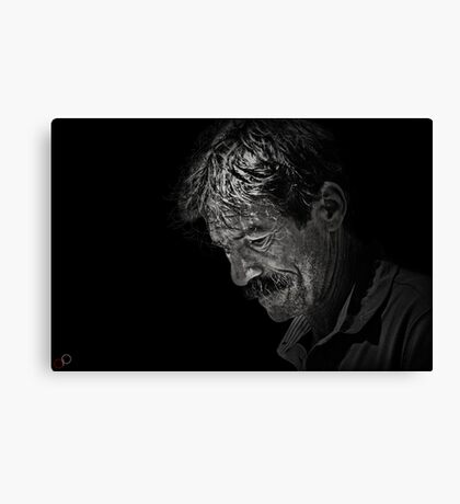 Faces of Venice - The Street Artist Canvas Print