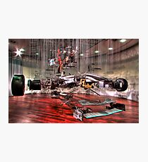 Mercedes GP Exploded - HDR Photographic Print