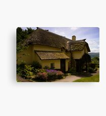 Periwinkle Cottage,Selworthy Exmoor Canvas Print