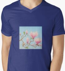 Magnolias in Bloom, Wisley Gardens, Surrey Men's V-Neck T-Shirt