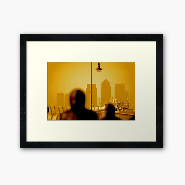 London Docklands The City - Peter Burke Framed Art Print