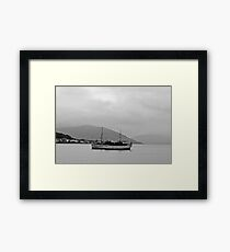 Cabin Cruiser Rothesay Harbour Isle of Bute Framed Print