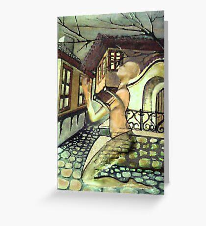 WOMAN OF STONEMASON Greeting Card