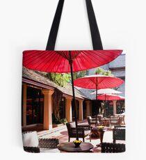 Red Umbrellas Tote Bag