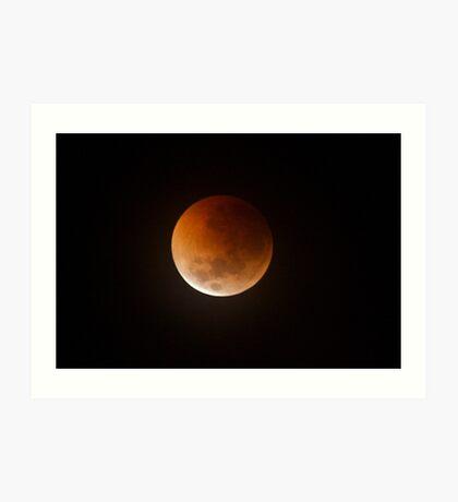 Lunar Eclipse Over Geelong, Melbourne Australia. Art Print