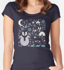 Penguin Small  Women's Fitted Scoop T-Shirt