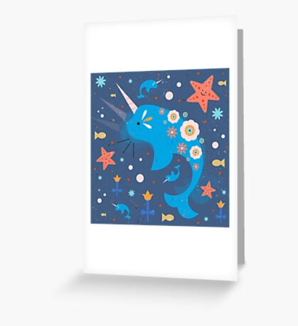 Narwhal & Babies Greeting Card