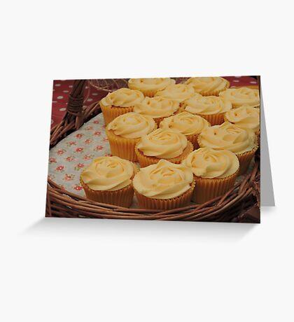 Lemon Cupcake Basket Greeting Card