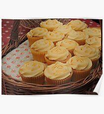 Lemon Cupcake Basket Poster