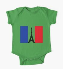 Eiffel Tower T-Shirt One Piece - Short Sleeve