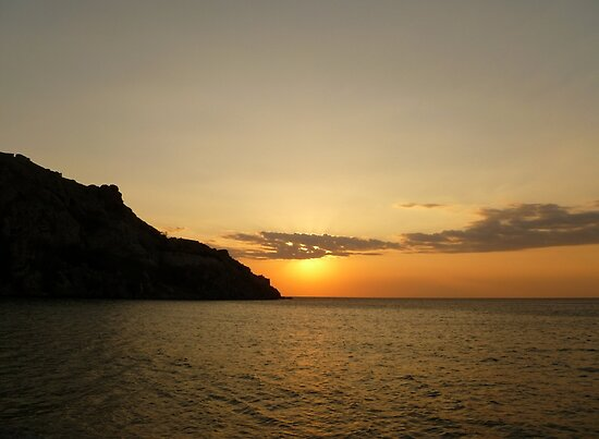 A Summer Sunset - Limnos, Greece by Vicki Spindler (VHS Photography)