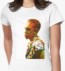 African man Womens Fitted T-Shirt
