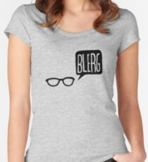 BLERG! Women's Fitted Scoop T-Shirt