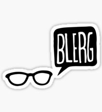 BLERG! Sticker