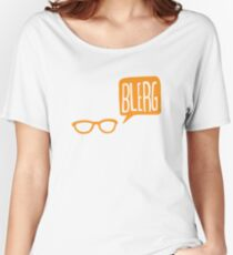 BLERG ORANGE! Women's Relaxed Fit T-Shirt