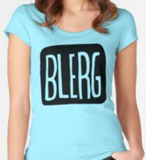 BIG BLERG Women's Fitted Scoop T-Shirt