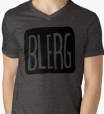 BIG BLERG Mens V-Neck T-Shirt