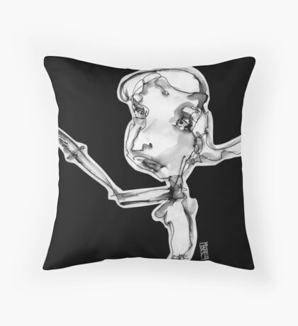Is it ok to point at yourself?? Throw Pillow