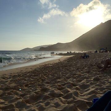 Dusk at the Sandy Beach by bjt243