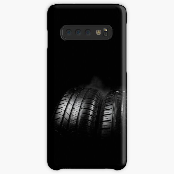 Close up view of car tyres isolated on a black background Samsung Galaxy Snap Case