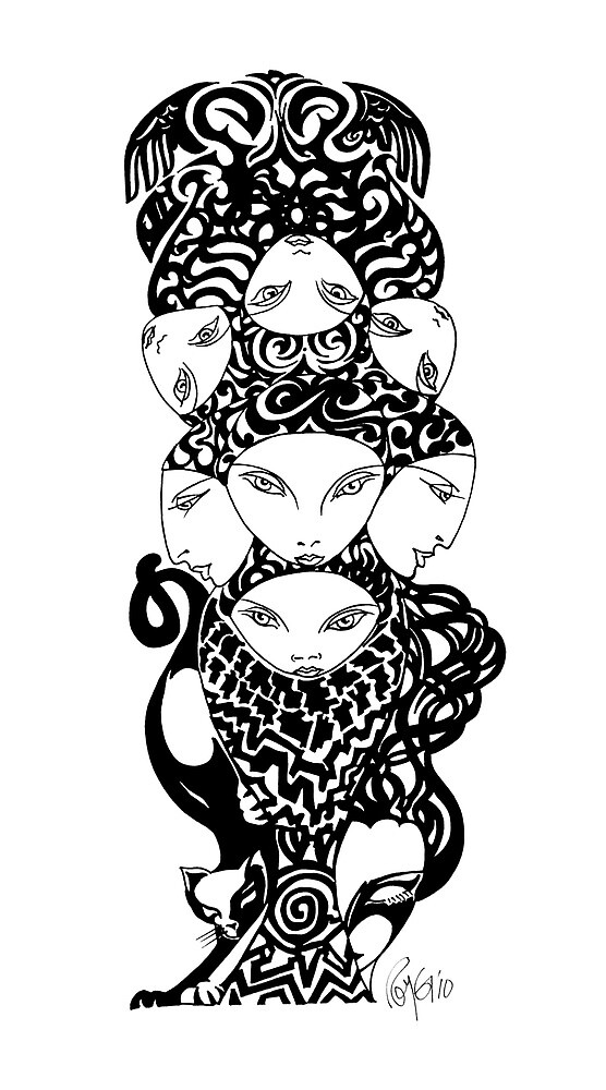 Feline Totem by Roy Guzman