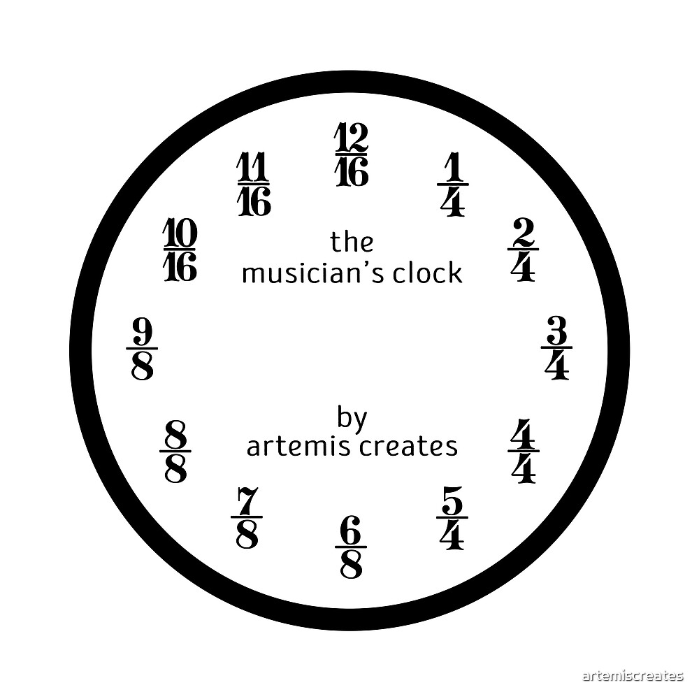 The Musician's Clock (Clock Only) by artemiscreates