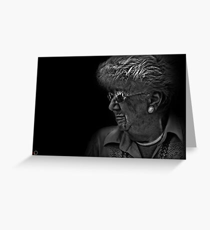 Faces of Venice - The Tea Drinker Greeting Card
