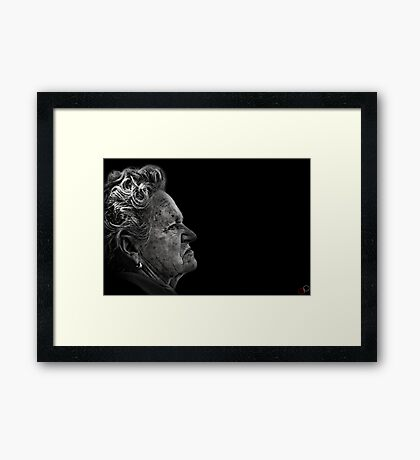Faces of Venice - The Cook Framed Print
