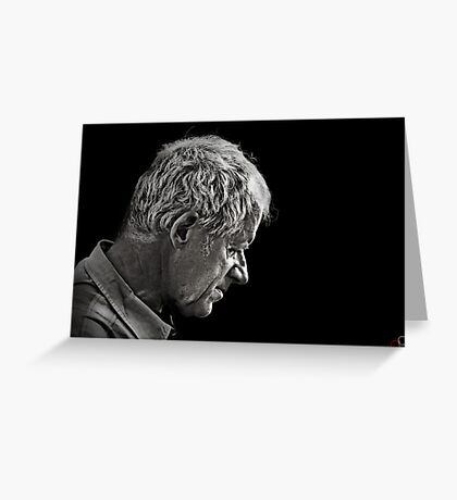 Faces of Venice - The Quiet Husband Greeting Card