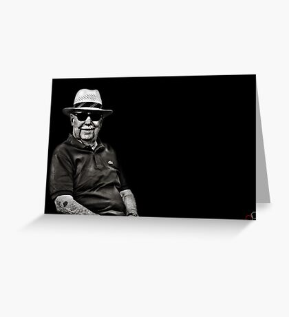 Faces of Venice - The Lawn Bowls Player Greeting Card