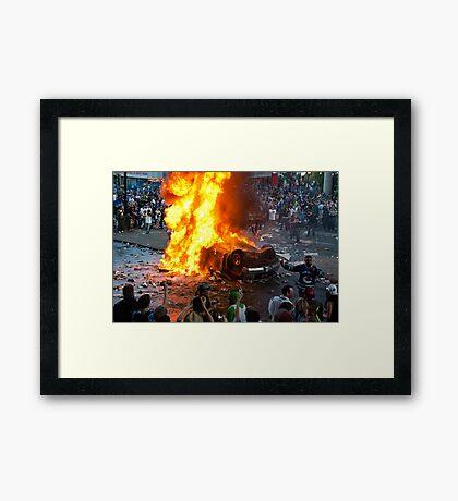 Post Game Riot 1  Framed Print